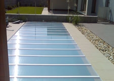 Bazénové prekrytie - krycie panely