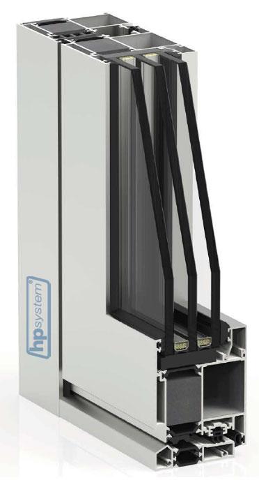 Hliníkové dvere sprerušeným tepelným mostom Millenium plus 80 - 3-oj sklo
