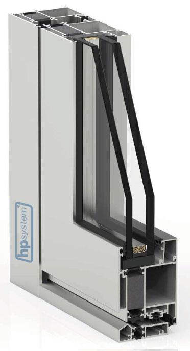 Hliníkové dvere s prerušeným tepelným mostom Millenium plus 80 - 2-oj sklo