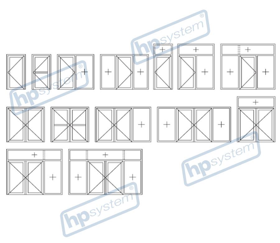 Hliníkové dvere bez prerušeného tepelného mostu Millenium 2000