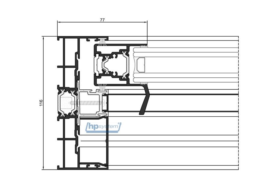 Posuvný systém COR Vision, s prerušeným tepelným mostom