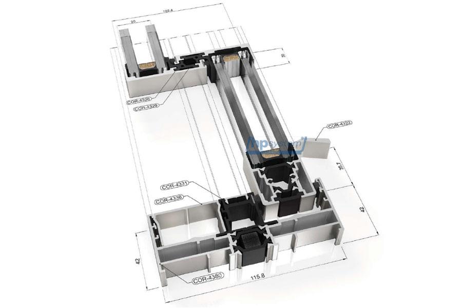 Posuvný systém s prerušeným tepelným mostom COR Vision
