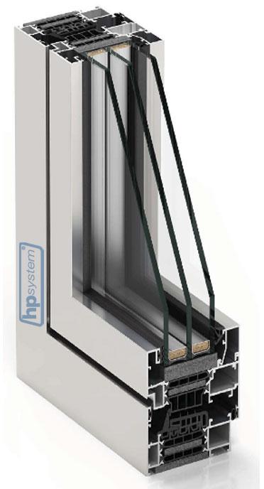 Hliníkové okno s prerušeným tepelným mostom COR 80 industrial
