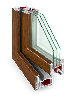 Plastové okno Gealan 9000